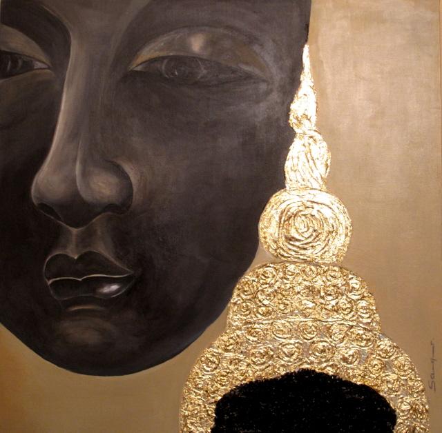 Bouddah thaïlandais - toile format 50 x 50 cm